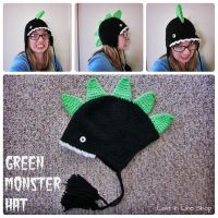 Green Monster Hat #2 by the-carolyn-michelle