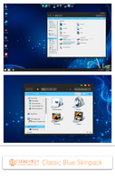 Classic Blue Skin Pack For Win7/8/8.1 by TheDhruv