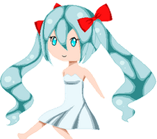 Leave In Summer Miku Chibi by Candycide
