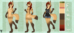 Fawn Reference Sheet 2014 by Donnecha