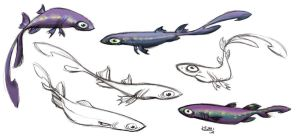 Velvet Belly Lantern Shark by Polarkeet