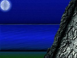 Moonlit Ocean -Enhanced- by dza1994