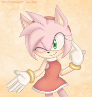 Have no fear! Amy Rose is here! by nakklesart