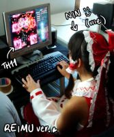 Reimu is playing Touhou by Ninamo-chan