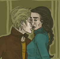 Peeta and Katniss by shaiiim