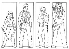 SGA Team - inks by Mistresselysia