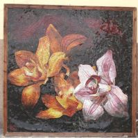 mosaic orchide by mosaic-masters