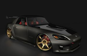 3d honda S2000 tuned by rizzodesign
