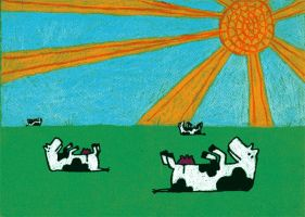 sun lovin cows by cpowza