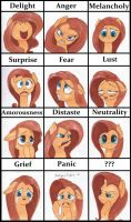 Fluttershy expression. by SatynaPaper