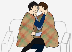 Jedikiah and Carron under the blanket by Loupiotte-FR