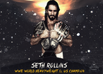 Seth Rollins WWE and NEW US Champion by Tripleh021