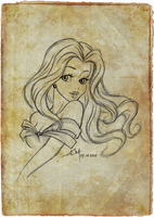 Belle_Sketch by Emilia89