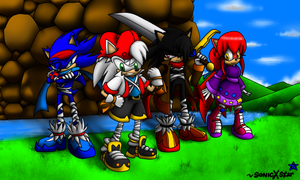 sonicXstar team - sonic boom style by SonicXstar