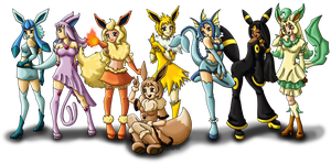 Eeveelution Sisters Reloaded by louisalulu