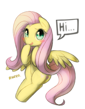 Flutter shy by Marenlicious