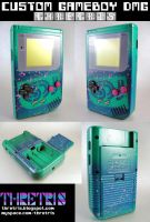 Green and pink LSDJ gameboy by Thretris