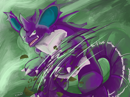 NIDOKING and the Tailwhip by Xetak6