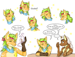 Conraud's Expression Sheet by Akane-The-Fox