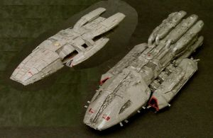 Two Battlestars by Roguewing