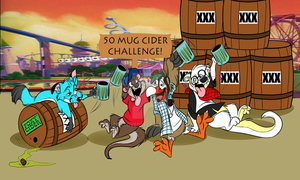 Foxy's Plastered Park Tour - Getting a drink! by Foxlover91