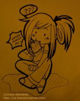 CE Scribbly : Rain Eating Toast by oddlittleleaf