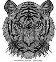 Stock-vector-psychedelic-tiger-isolated-114470512 by tristix