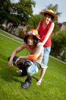 Ace and Luffy - Brothers by abolechander