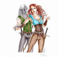 Drizzt and Catti-brie -- Dance (colors) by TemplumSanctus