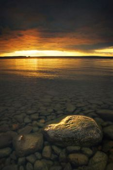 Dusk at Thessalon Point by tfavretto