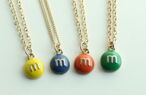 M n' M Necklaces by MonsterBrandCrafts