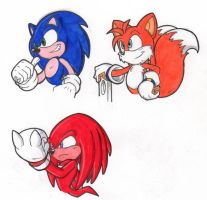 Sonic and friends_markers test by CKT-INC