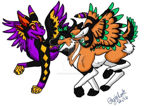 Frolicking Angel Dragons by Indiana-Chems