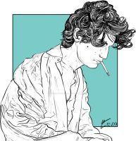 Louis Garrel by The-Crayon-Guru