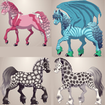fantasy horse adoptables by KnifeofBloodyTears