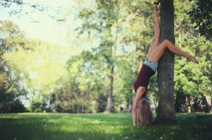 Upside-Down Ballerina by PhotoYoung