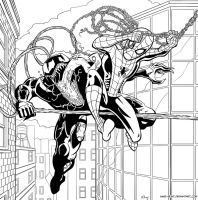 Spider-man and Venom by Mike-Bunt