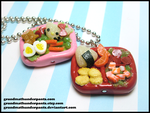 Bento Box Necklaces by GrandmaThunderpants