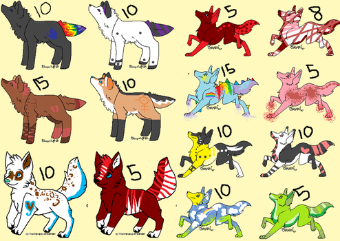 Wolfie point adopts by NeonColoredPencils
