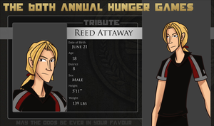 Hunger Games OTC: Reed Attaway by andalsopineapples