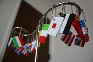 flag keychains by akiseo