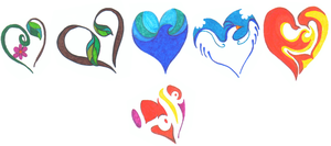 Elemental heart tattoo designs by CrystalSister