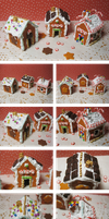 Gingerbread Houses by crazy-alchemist