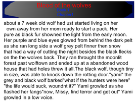 blood of the wolves part 1 by QueenYami