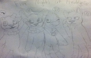 Sketch of FNAF by KittyCreator