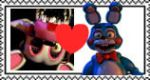 Mangle x Toy bonnie stamp by Larrydog123
