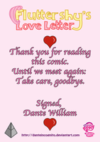 ''Fluttershy's Love Letter'' - Ending Page by DanteIncognito