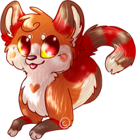 +Red Panda+ by Kitzophrenic