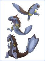 New fan game water starters by shinyscyther