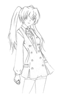 Ophelia's school uniform - sketchy by IlzeProductions